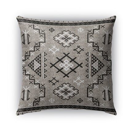 Cyrill Burlap Indoor/Outdoor Throw Pillow Size: 26 H x 26 W x 5 D, Color: Black