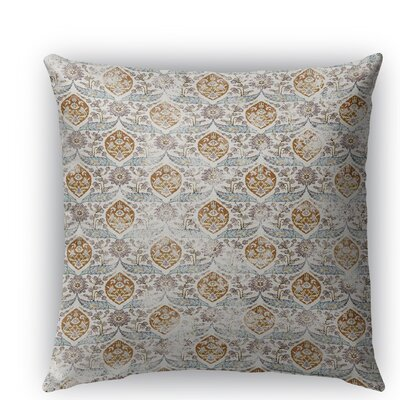 Estancia Burlap Indoor/Outdoor Throw Pillow Color: Blue, Size: 26 H x 26 W x 5 D