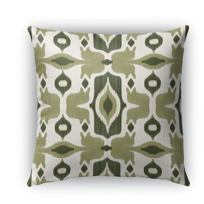 Cosmos Burlap Indoor/Outdoor Throw Pillow Size: 26 H x 26 W x 5 D, Color: Green
