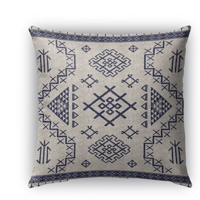 Cyrill Indoor/Outdoor Throw Pillow Color: Light Blue, Size: 18 H x 18 W x 5 D
