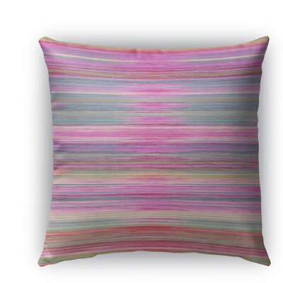 Abstract Sunset Burlap Indoor/Outdoor Throw Pillow Size: 18 H x 18 W x 5 D