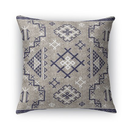 Cyrill Throw Pillow Size: 16 H x 16 W x 5 D, Color: Dark Blue