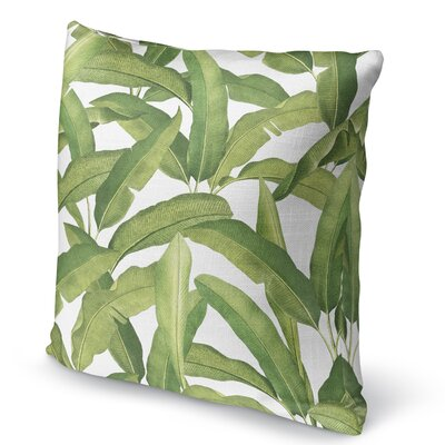 Pallavi Banana Leaves Accent Pillow Size: 18 H x 18 W x 5 D
