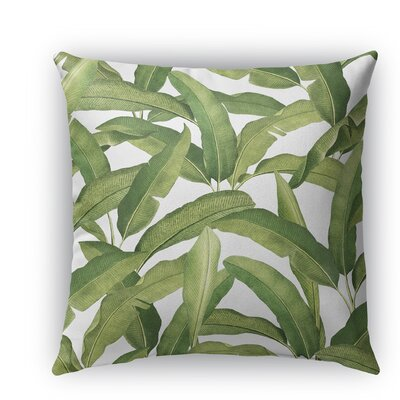 Pallavi Banana Leaves Burlap Indoor/Outdoor Throw Pillow Size: 26 H x 26 W x 5 D
