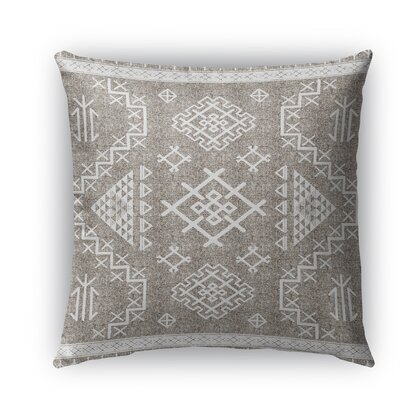 Cyrill Indoor/Outdoor Throw Pillow Size: 26 H x 26 W x 5 D, Color: White