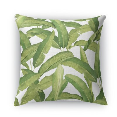 Banana Leaves Throw Pillow Size: 18 H x 18 W x 5 D