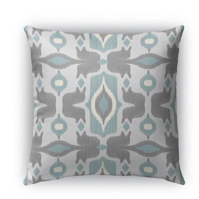 Cosmos Burlap Indoor/Outdoor Throw Pillow Color: Blue, Size: 20 H x 20 W x 5 D