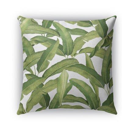Banana Leaves Burlap Indoor/Outdoor Throw Pillow Size: 16 H x 16 W x 5 D