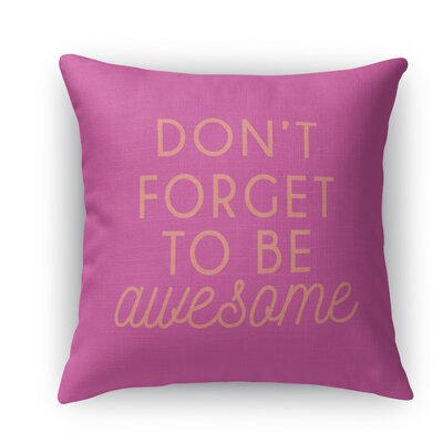 Brooklyn Throw Pillow Size: 16 H x 16 W x 5 D