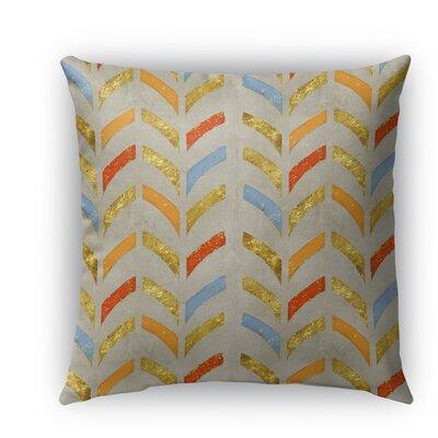 Bari Burlap Indoor/Outdoor Throw Pillow Size: 16 H x 16 W x 5 D