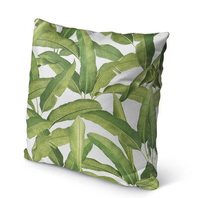 Pallavi Banana Leaves Burlap Indoor/Outdoor Pillow Size: 16 H x 16 W x 5 D