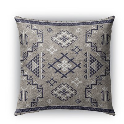 Cyrill Burlap Indoor/Outdoor Throw Pillow Size: 16 H x 16 W x 5 D, Color: Dark Blue