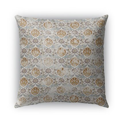 Estancia Burlap Indoor/Outdoor Throw Pillow Size: 18 H x 18 W x 5 D, Color: Gray