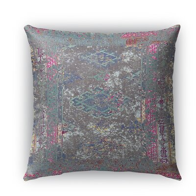 Cimarron Burlap Indoor/Outdoor Throw Pillow Color: Multi, Size: 18 H x 18 W x 5 D