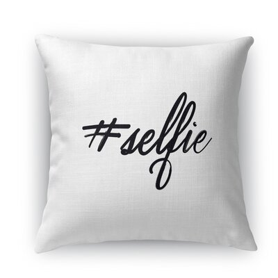 Selfie Throw Pillow Size: 24 H x 24 W x 5 D