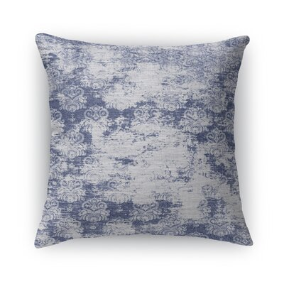 Cataleya Burlap Throw Pillow Size: 24 H x 24 W x 5 D, Color: Blue