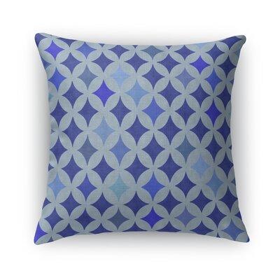 Large Diamond Blue Burlap Throw Pillow Size: 16 H x 16 W x 5 D