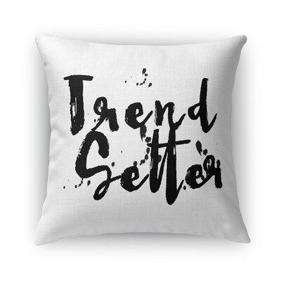 Patsy Burlap Throw Pillow Color: White, Size: 24 H x 24 W x 5 D
