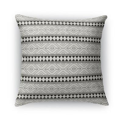 Rogers Burlap Throw Pillow Color: Black, Size: 18 H x 18 W x 5 D