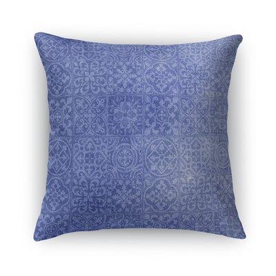 Tiles Burlap Throw Pillow Size: 24 H x 24 W x 5 D, Color: Blue
