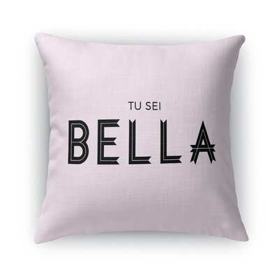Tu Su Bella Burlap Throw Pillow Size: 16 H x 16 W x 5 D
