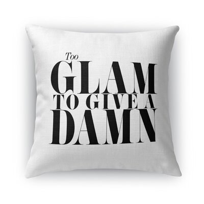 Too Glam Burlap Throw Pillow Size: 18 H x 18 W x 5 D