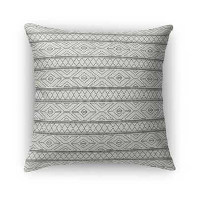 Rogers Burlap Throw Pillow Size: 16 H x 16 W x 5 D, Color: Gray
