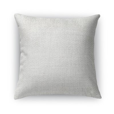 Volos Burlap Throw Pillow Size: 18 H x 18 W x 5 D