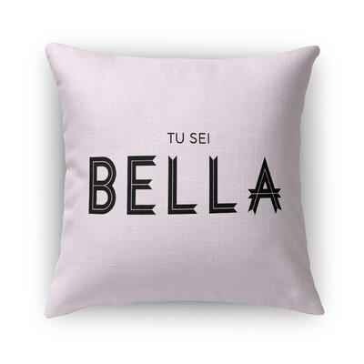 Tu Su Bella Burlap Indoor/Outdoor Throw Pillow Size: 16 H x 16 W x 5 D