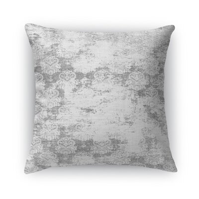 Cataleya Burlap Throw Pillow Size: 16 H x 16 W x 5 D, Color: Gray