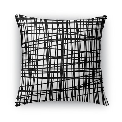 Lines Burlap Throw Pillow Size: 16 H x 16 W x 5 D
