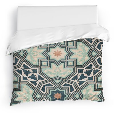 Aimee Duvet Cover Color: Green/Blue, Size: King