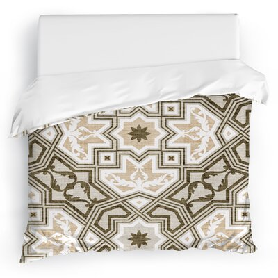 Aimee Duvet Cover Size: Full/Queen, Color: Taupe/Ivory