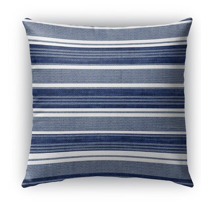 Ellery Indoor/Outdoor Throw Pillow Color: Gray/Dark Blue, Size: 26 H x 26 W x 5 D