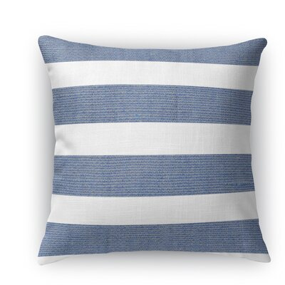 Centerville Burlap Indoor/Outdoor Throw Pillow Color: Blue, Size: 18 H x 18 W x 5 D