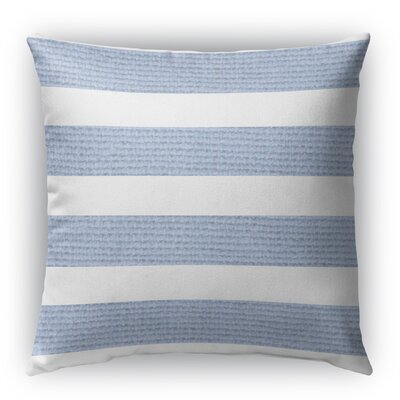 Centerville Burlap Indoor/Outdoor Throw Pillow Color: Light Blue, Size: 18 H x 18 W x 5 D