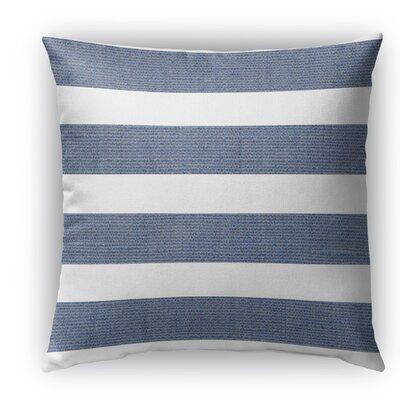 Melton Burlap Indoor/Outdoor Throw Pillow Color: Blue, Size: 26 H x 26 W x 5 D