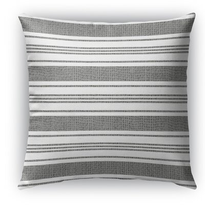 Sagamore Burlap Indoor/Outdoor Throw Pillow Size: 16 H x 16 W x 5 D, Color: White/Dark Gray