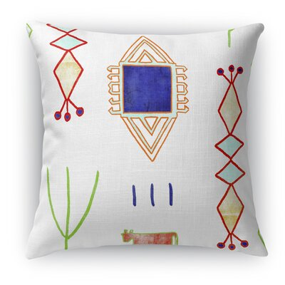 Chrarda Throw Pillow Size: 18 H x 18 W x 5 D, Color: White