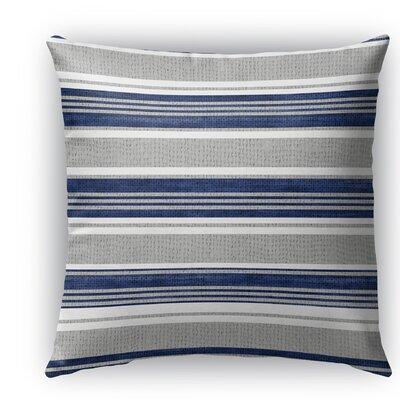 Sagamore Burlap Indoor/Outdoor Throw Pillow Color: Blue/Light Gray, Size: 20 H x 20 W x 5 D
