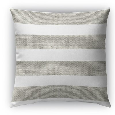 Centerville Burlap Indoor/Outdoor Throw Pillow Size: 26 H x 26 W x 5 D, Color: Gray