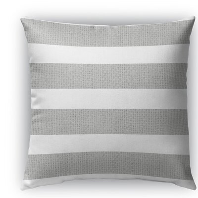 Centerville Burlap Indoor/Outdoor Throw Pillow Size: 26 H x 26 W x 5 D, Color: Light Gray