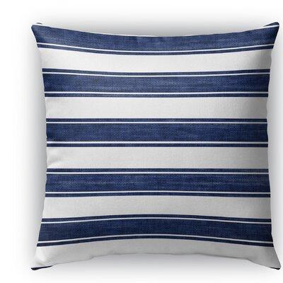 Melton Stripe Burlap Indoor/Outdoor Throw Pillow Size: 18 H x 18 W x 5 D