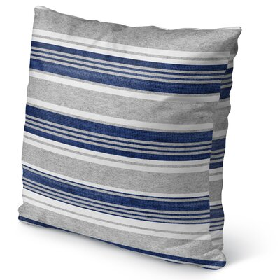 Sagamore Burlap Indoor/Outdoor Pillow Size: 18 H x 18 W x 5 D, Color: Blue/ Grey