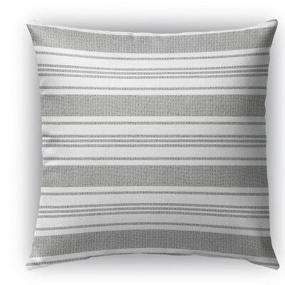 Sagamore Burlap Indoor/Outdoor Throw Pillow Color: White/Light Gray, Size: 18 H x 18 W x 5 D
