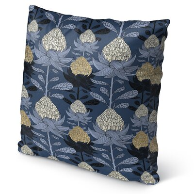 Elicia Blossom Burlap Indoor/Outdoor Throw Pillow Size: 18 H x 18 W x 5 D