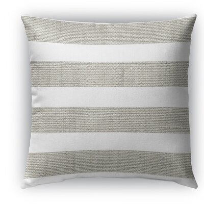 Melton Burlap Indoor/Outdoor Throw Pillow Color: Gray, Size: 18 H x 18 W x 5 D