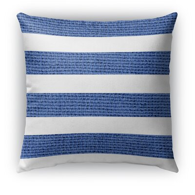 Centerville Burlap Indoor/Outdoor Throw Pillow Color: Dark Blue, Size: 18 H x 18 W x 5 D