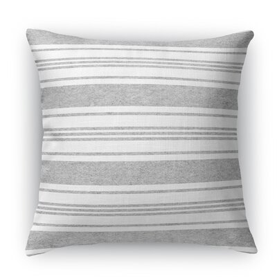 Sagamore Burlap Indoor/Outdoor Throw Pillow Color: Blue/Light Gray, Size: 18 H x 18 W x 5 D