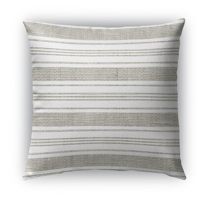 Ellery Indoor/Outdoor Throw Pillow Size: 16 H x 16 W x 5 D, Color: Beige/White